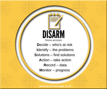 DISARM acronym for dealing with stress